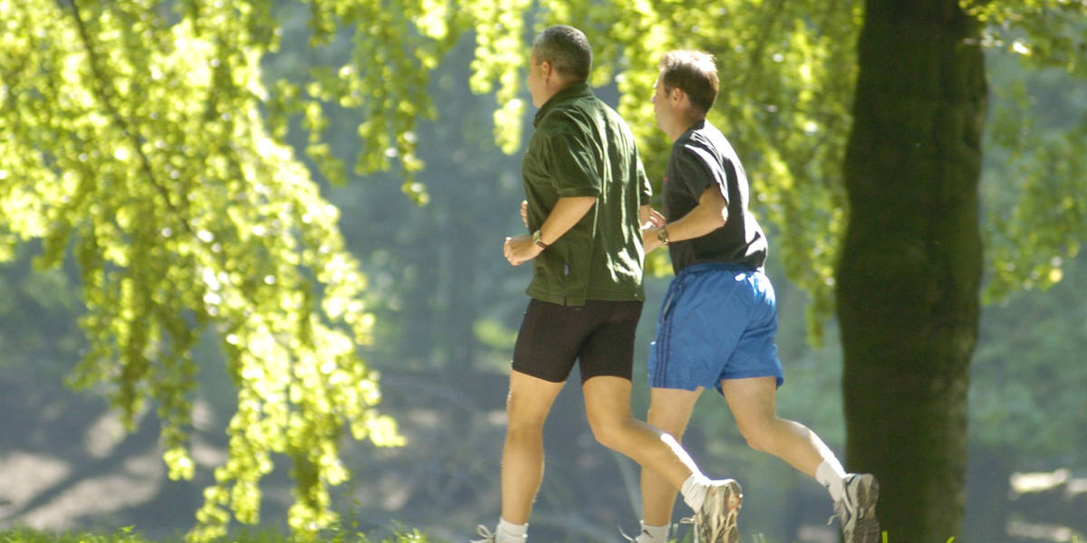 Joggers actief voor hun gezondheid