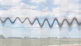 Schermafbeelding van de pluim over een foto van wolken