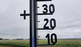 thermometer geeft 15 graden aan