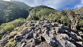 Plek waar het nieuwe monitoringsstation op Saba wordt gerealiseerd
