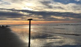nederlandse kust in het najaar