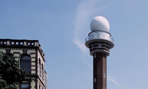 De KNMI radar in De Bilt