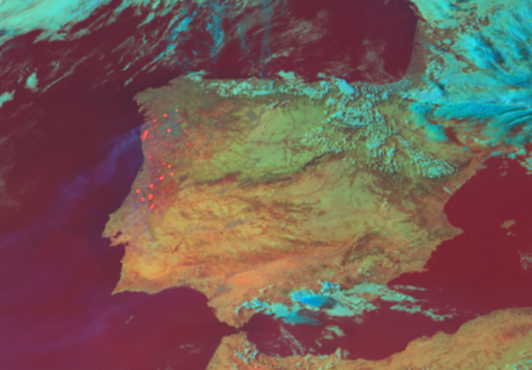 bosbranden portugal op kaart KNMI   Satellietbeelden tonen bosbranden Portugal
