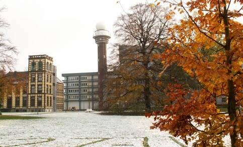 De donkerste dag ooit in De Bilt bracht wel wat sneeuw (foto: Jacob Kuiper, KNMI)