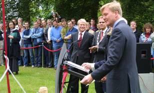 Opening lustrumsymposium door Prins van Oranje