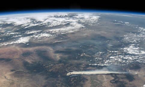 Bosbranden in Colorado op 19 juni 2013 vanuit ISS (Bron NASA)
