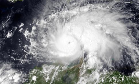 Orkaan Matthew op 30 september 2016.