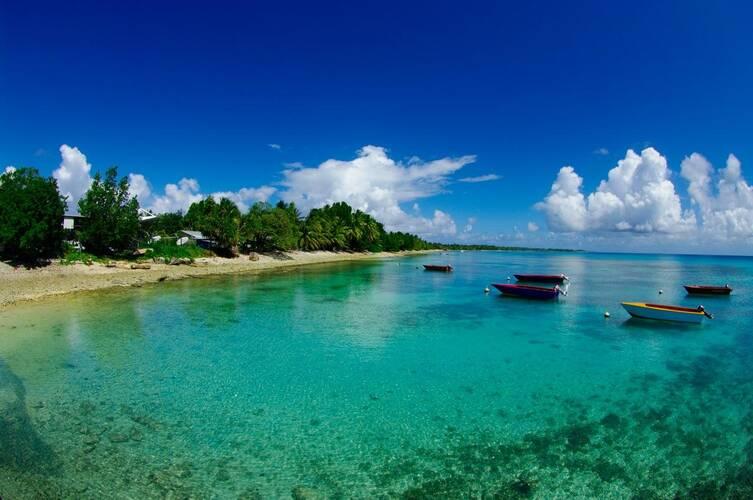 foto van de eilandengroep Tuvalu