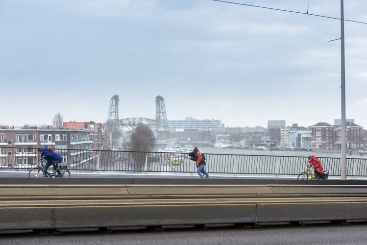 Storm in Rotterdam. Bron: Tineke Dijkstra.