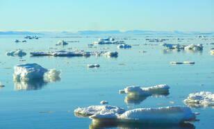 Figuur 1. Arctisch zee-ijs (foto: R. Bintanja).