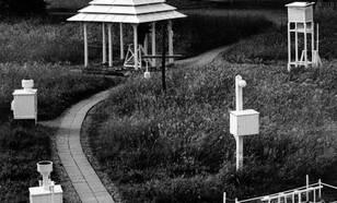 Foto van de pagode voor 1951 op de oude locatie