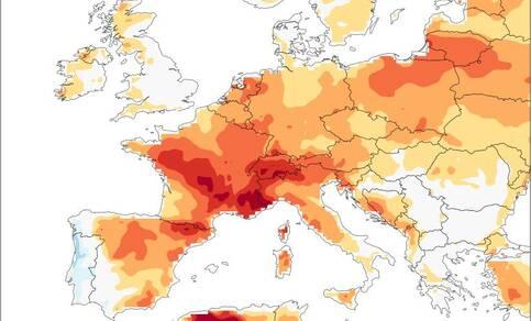 De temperatuur van de drie warmste dagen in juni 2019