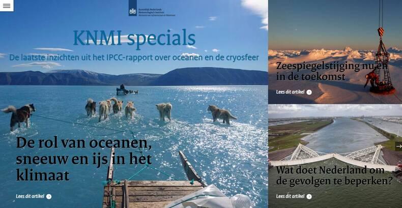 Cover van de KNMI special over zeespiegelstijging