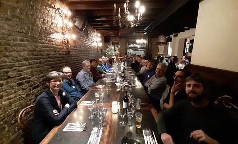A photo from the workshop dinner