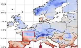 Figuur 1. Minimum temperatuur op 6 april 2021.