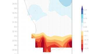 Figuur 2. Trend in de stationswaarnemingen van neerslag 1901–2016. Bron: CRU TS 4.01.