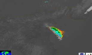 Satellietwaarneming uitbarsting Etna op maandag 24 december 2018