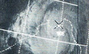 Cycloon Bhola met oog op 12 november 1970 in de Golf van Bengalen.