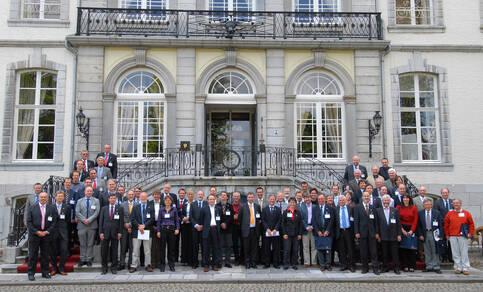 foto met alle deelnemers aan het Sciamachy evenement in Vaals in mei 2008