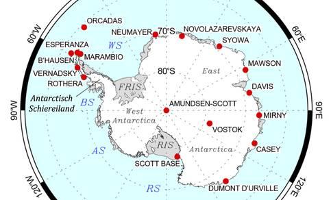 Weerstations op Antarctica