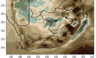 Verwachte hoeveelheid regen tegen het einde van de eeuw (ten opzichte van 1976-2005). Wederom bij een relatief gunstig scenario.