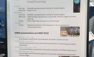 Programma van het KNMI op de Meteorological Technology World Expo in de RAI Amsterdam