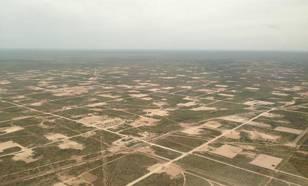 foto van het gebied voor olie- en gaswinning in texas