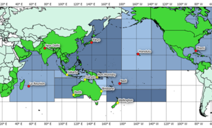 Regionale indeling van waarschuwingscentra voor tropische cyclonen.