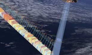 Visualisatie van Sentinel-6 hoogtemeter in bedrijf