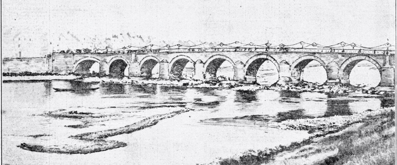 Laagwater in de Maas tijdens de extreme droogte van 1921