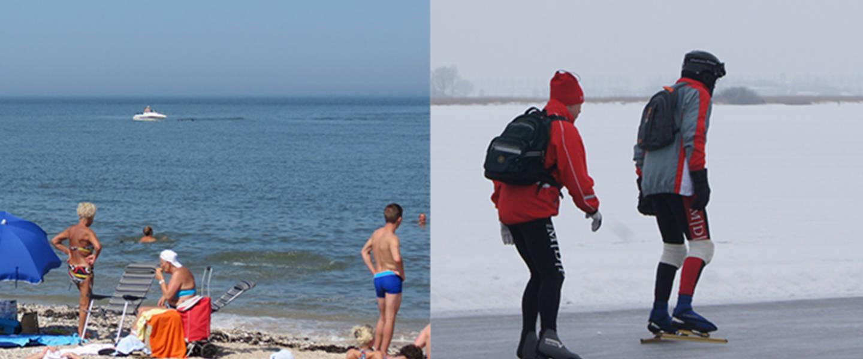 Zomer en winter tafereel