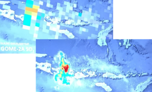 A comparison of SO2 concentrations from the Agung eruption on Bali from GOME-2A and TROPOMI (Image credit: DLR)