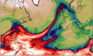 An atmospheric river