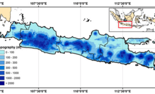 topography map of java